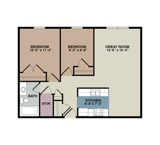 2 Bedroom. Hampton Court Apartments Affordable Housing And Apartment